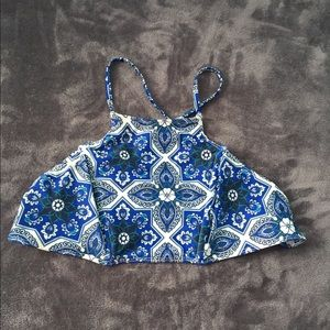 Beach riot stone cold fox bikini top blue large